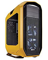 Corsair CC-9011059-WW 780T Graphite Series Windowed Full Tower ATX Gaming Case with LED Fan for PC - Yellow