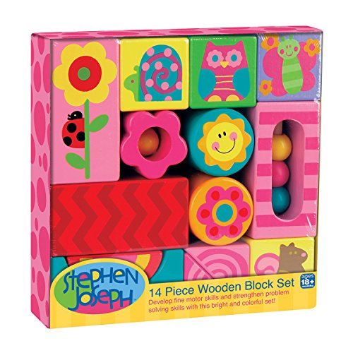 Stephen Joseph Art Wooden Blocks-Girl