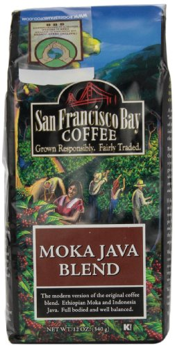 San Francisco Bay Coffee Whole Bean Moka Java Blend, 12-Ounce Bags (Pack of 3)