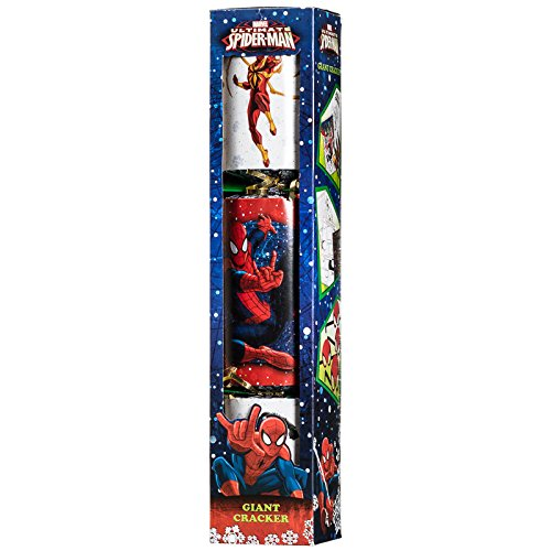 Marvel Ultimate Spiderman Giant 55cm Cracker - Extra Large Spider-Man Christmas Party Activity Cracker