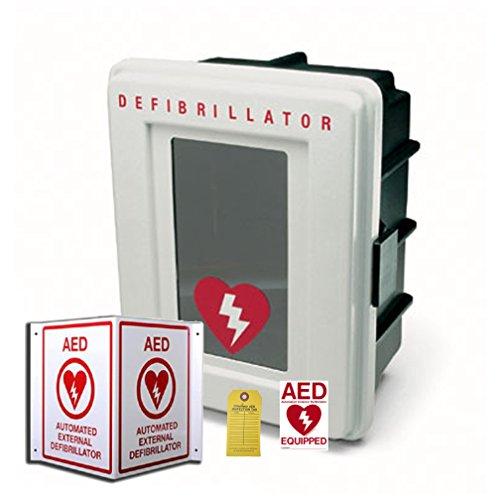 [해외]First Voice AEDMK03 All Weather AED 표면 실장 보관 및 라벨링 키트 (알람)/First Voice AEDMK03 All Weather AED Surface Mount Storage and