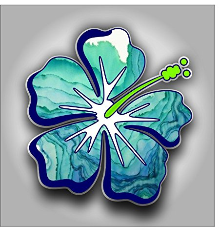Hibiscus Flower sticker / decal **Free Shipping** (Colorful Flower Car Decals compare prices)