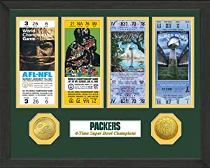 Green Bay Packers Green Bay Packers SB Championship Ticket Collection by Highland Mint