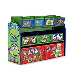 Teenage Mutant Ninja Turtle Deluxe Multi-Bin Toy Organizer by Delta