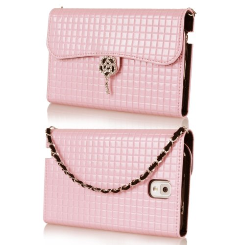 Ihand Handbag Clutch Wallet Case With Bling For Samsung Galaxy Note 3 Iii [Retail Package] - Pastel Pink