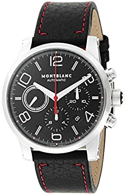 [Mont Blanc] MONTBLANC watch TIMEWALKER black dial automatic winding alligator leather 109345 Men's parallel import goods]