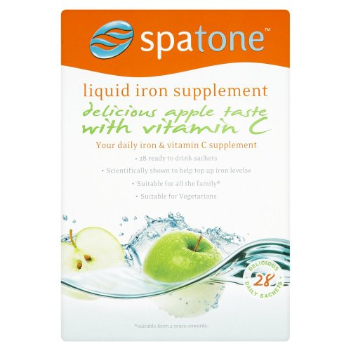 Nelsons Spatone Apple Flavour Natural Iron Supplement with added Vitamin C (28 Sachets)