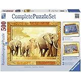 Ravensburger 14893 - Afrikanische Riesen - 500 Teile Complete Puzzle Set