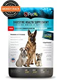 PetVi dog digestive health PLUS Hip and Joint pre & probiotic helps prevent itching, scratching, bad breath, excessive shedding and digestive disorders. Promotes overall health, digestive health, immunity and vitality. We have also added Glucosamine, Chondroitin Sulfate and Beta Carotene to help with your dogs joint health and flexibility, prevents joint inflammation, discomfort and osteoarthritis. 120 Day Risk Free No Hassle Guarantee!