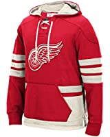 """Detroit Red Wings Men's NHL CCM """"Lace Em Up"""" Pullover Hooded Sweatshirt - Red"""