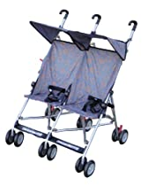 BeBeLove USA Double Umbrella Stroller, Gray