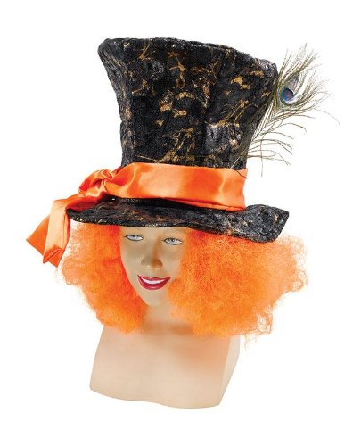Adulto Cappello Cappellaio Matto con capelli arancioni.