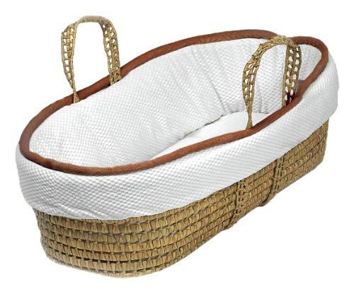 Imagen de Baby Doll Bedding Minky Diamond Moisés Basket, Chocolate