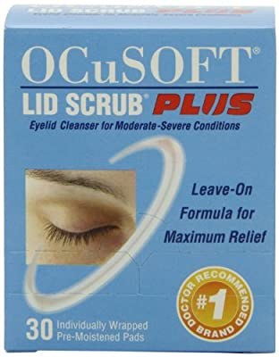 OCuSOFT Lid Scrub Plus, Pre-Moistened Pads, Individually Wrapped, 30 Pads