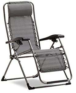 Strathwood Basics Anti-gravity Adjustable Recliner Chair Dark Brown With Champagne Frame from Strathwood