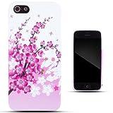 Zooky rosa TPU CHERRY BLOSSOM fiori COVER / CASE / CUSTODIA per Apple iPhone 5 / 5S