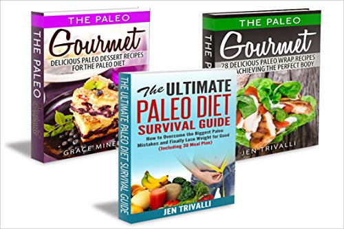 Paleo Cookbook: Box Set - The Top 50 Gourmet Paleo Diet Recipes for a Healthy Body & Mind (Free Bonus Book Included!) by Jen Trivalli, Grace Minello