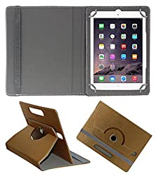 Acm Designer Rotating 360° Leather Flip Case For Apple Ipad Air 1 Tablet Stand Premium Cover Golden