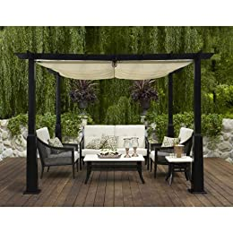 Smith And Hawken Metal Windsor Pergola Amp Conversation Set