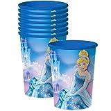 Disney Cinderella Sparkle Party Plastic Cups - 8 Pieces
