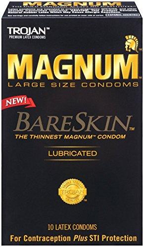 Trojan Magnum Bareskin Lubricated Condoms, 10 Count