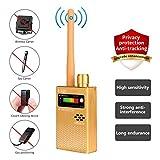 Eilimy Anti-Spy Wireless RF Signal Detector Set [2018 Latest Upgrade] Bug GPS Camera Signal Detector,for Hidden Camera GSM Listening Device GPS Radar Radio Scanner Wireless Signal Device Finder (Color: Gold, Tamaño: Handheld devices)