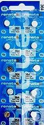 #364 Renata Watch Batteries 10Pcs