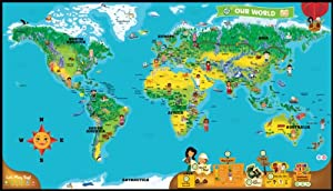 Leap Frog Tag World Map - Mapa (460 mm, 269 mm, Multi)