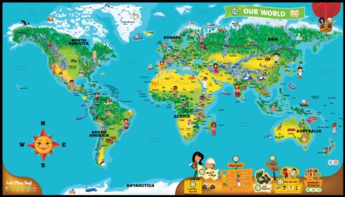 LeapFrog LeapReader Interactive World Map (works with Tag)
