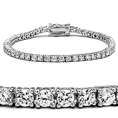 YourJewelleryBox 46905 7'' AAA GRADE SIMULATED DIAMOND TENNIS BRACELET CLASSIC 9CTS WOMENS