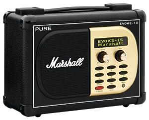 PURE EVOKE-1S Marshal, Portable DAB/FM Radio with Unique Marshall Styling for EVOKE-1S Marshall (discontinued by manufacturer)