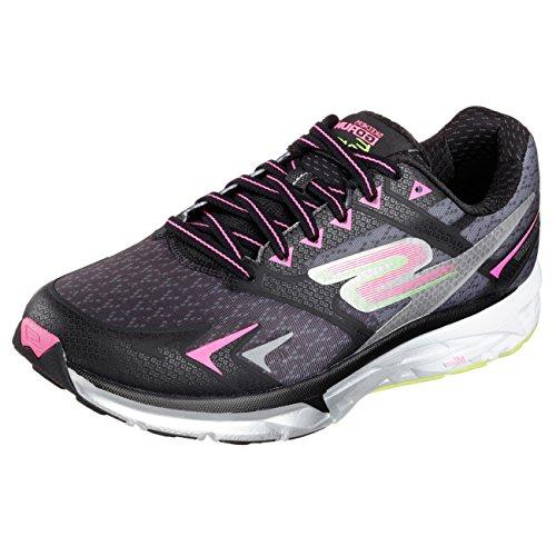 SKECHERS Women's Go Run Forza Black/Pink Sneaker 8 B (M)