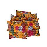 Rajrang Printed Cotton Cushions Pillowcase Case Cover 16 By 16 Inches Set 5 Pcs