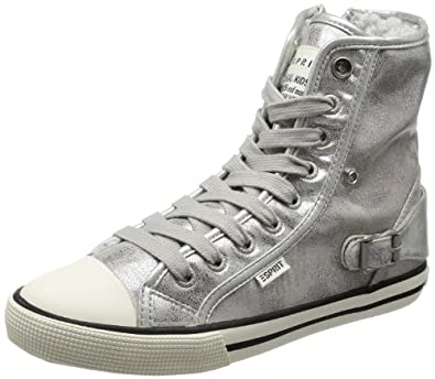 esprit girls benny quarz hi top sneakers silver silber. Black Bedroom Furniture Sets. Home Design Ideas