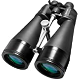 BARSKA Gladiator 25-125x80 Zoom Binoculars (Green Lens, Braced-in Tripod Adapter) (Color: Black, Tamaño: Giant Binoculars)