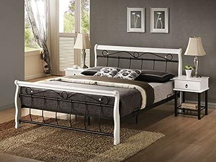 Bett Venecja Schlafen Betten 160x200 weiss/schwarz Doppelbett Ehebett