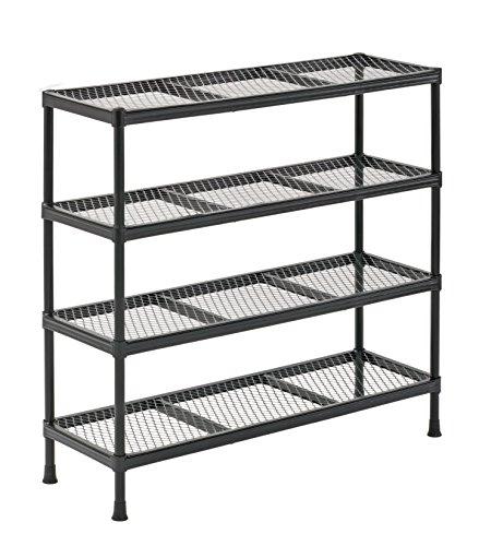 Sandusky CSR311031 Gray Combination Wire Shelving Unit, 4 Shelves, 31