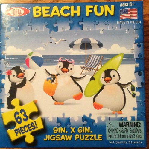 Beach Fun 63 Piece Jigsaw Puzzle - 1