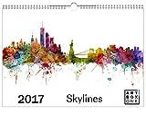 Kalender 2017 Städte-Kalender Skyline mit 12 Skylines bekannter Städte von