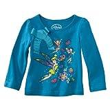 Disney Little Girls Fairies Infant and Toddler Girls Long Sleeve Shirt