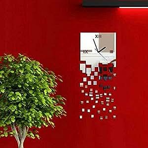 Yesurprise pendule murale design diy horloge magnifique en - Pendule cuisine design ...