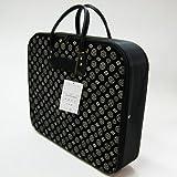 【印傳調】 和装着物バッグ 横長タイプ (家紋柄)