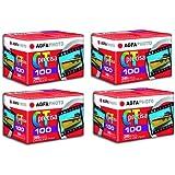 4pcs Agfa Precisa CT100 Slide Film 35mm 36exp E-6