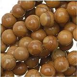 Wood Jasper 4mm Round Beads Tan and Brown 15.5 Inch Strand
