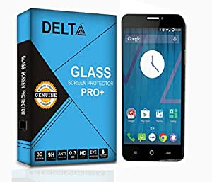 YU Yureka Screen Protector,Delta Premium Pro+ Tempered Glass,Shatter Proof Screen Protector for YU Yureka with Cleaning Kit [2.5D round Edges,0.3mm,9H hardness]