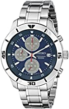 "Seiko Men's SKS413 ""Amazon Exclusive"" Stainless Steel Watch with Triple-Link Bracelet"
