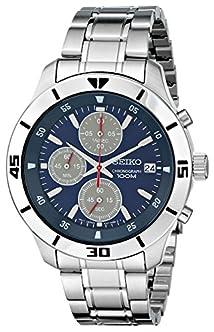 Seiko Men's SKS413 Amazon-Exclusive Stainless Steel Watch
