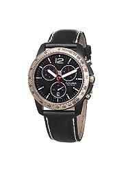 Golana Swiss Men's TE220-1 Terra Stainless Steel Leather Chronograph Watch