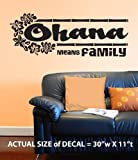 Ohana Means Family - Wall Décor Sticker Vinyl Decal from Disney's Lilo and Stitch PLUS FREE BONUS!