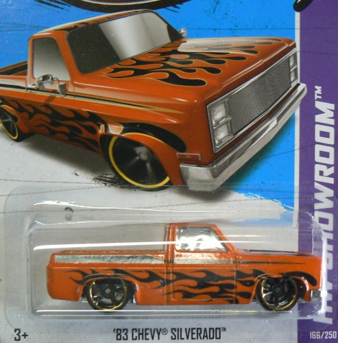 Hot Wheels HW Showroom 166/250 '83 Chevy Silverado Orange with Black Flames